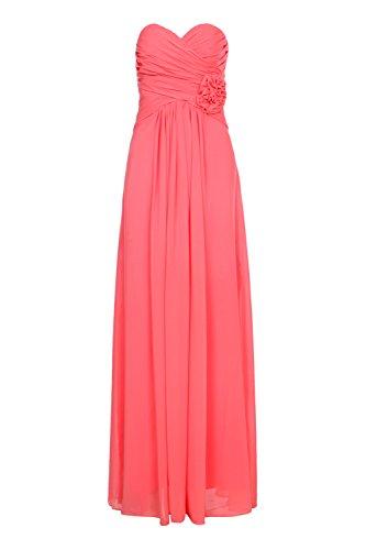 Vestito da cerimonia matrimonio, Vestito da sera, motivo: Cocktail damigella D'onore Top light02 lunga arancione rosso