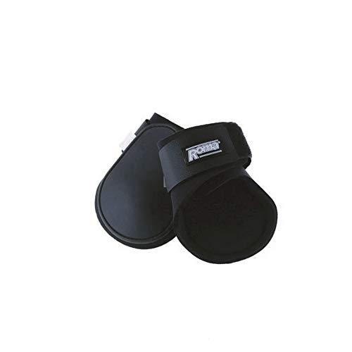 Hind Fetlock Boots - Roma Contoured Fetlock Boots Black Full