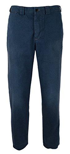 Polo Ralph Lauren Mens Blue Herringbone Pattern Flat Front Trousers Pants-Blue,36W X ()