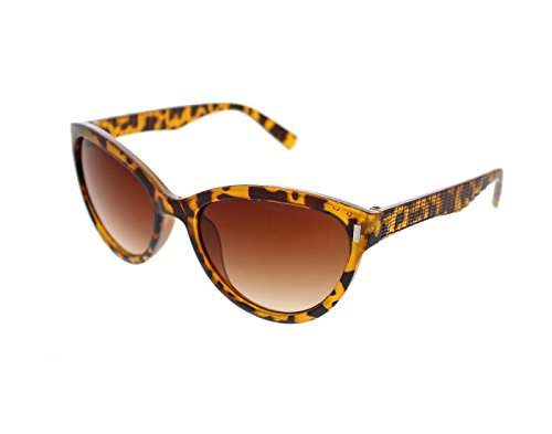 Vast UV Protection Cat Eye Womens Sunglasses (3075BRN|56|Brown Lens )