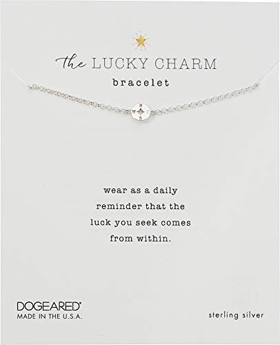 Dogeared Women's The Lucky Charm Bracelet, Compass Charm On Chain Sterling Silver One Size