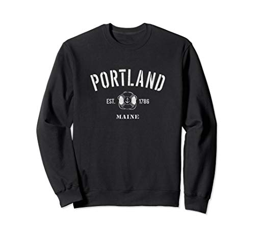 Maine Old Port Portland - Portland Maine Est.1786 Sweater - Men, Women Sweatshirt ME