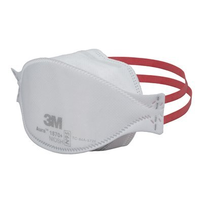 Mask Flat 5 Disposable Fold Pack No 1870 3m