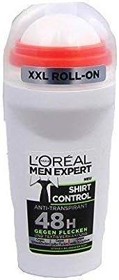 Loreal Men Expert Shirt Control Antitranspirante 48h Desodorante Roll-On contra Mancha y Textilverhärtung, 3er Pack (3x50ml): Amazon.es: Belleza