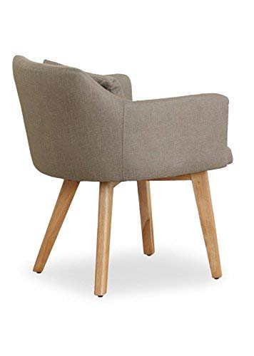 menzzo chaise fauteuil scandinave dantes tissu