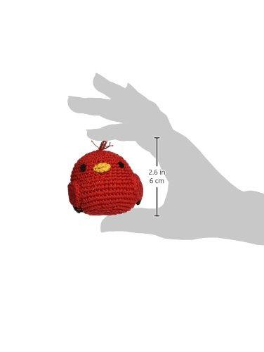 Image of Knit Knacks Organic Crocheted Small Dog Toy (Rockin' Robin)