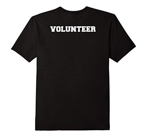 Mens Volunteer T-shirt, Volunteer Crew Shirt, Event Tees 2XL Black