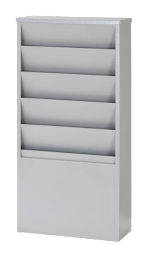 Buddy Products 5-Pocket Display Rack, Steel, 4 x 20.38 x 9.75 Inches, Platinum (0811-32)