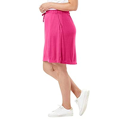 Woman Within Women's Plus Size Sport Knit Skort: Clothing
