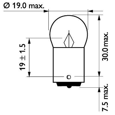Philips 12822CP L/ámpara Piloto de Matr/ícula