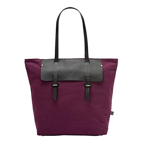 Grande Canvas Shopper En Dudu Piel Ciruela Con Shopping Bag Y Bolso Cremallera Mujer Bicolor Tote wxqCIIBn1P