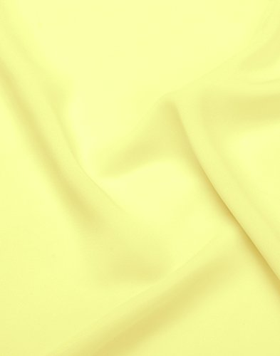 Chiffon Daffodil - LANSITINA Solid Color Sheer Chiffon Fabric by The Yard for Draping and Dresses (5 Yards)(Daffodil)