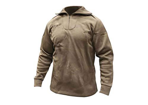 Zip Collar Underwear Shirt (USGI MILITARY BROWN POLY PRO LONG JOHN UNDERWEAR SHIRT TOP 1/4 ZIP (Medium))