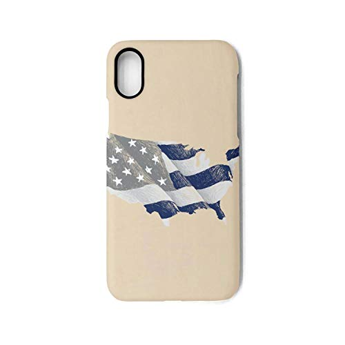 Phonerebey iPhone X/Xs Case,Flying American Flag Anti-Scratch Shockproof Slim Cover Case Compatible with Apple iPhone X/Xs Case,TPU Back Cover Case]()