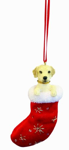 (Yellow Labrador Christmas Stocking Ornament with