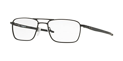 OX5127 Gauge 5.2 Truss Square Titanium Eyeglass Frames, Matte Black/Demo Lens, 51 mm