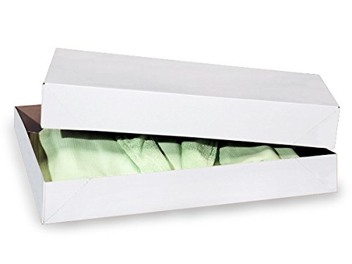 Recycled White Apparel Boxes - White Economy Apparel 19x12x3'' 100% Recycled ~ 2 Piece Pop Up Box (50 Boxes) - WRAPS-AB5E