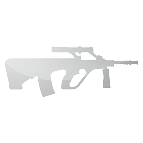RDW Metallic AUG Sticker Die Cut Steyr AUG A1 - Silver