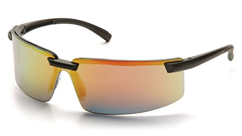 Pyramex Surveyor Ice Orange Mirror Lens With Black Frame