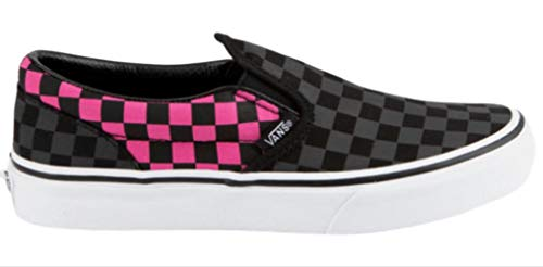 (Vans Girl's Classic Checkerboard Slip On Skate Shoes (10.5 M Little Kid US, (Checkerboard) Carmine)