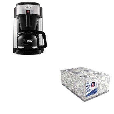 KITBUNNHSKIM21271 - Value Kit - Bunn Coffee 10-Cup Professional Home Coffee Brewer (BUNNHS) and KIMBERLY CLARK KLEENEX White Facial Tissue (KIM21271)