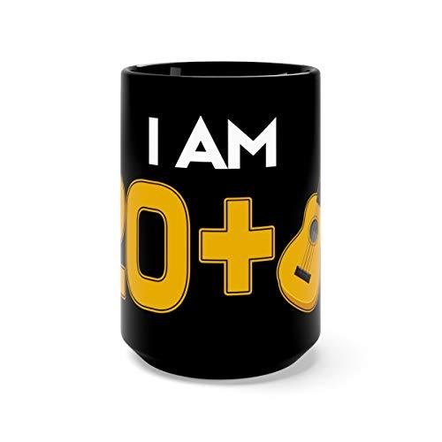 21 Years Old Guitar Player 21st Birthday Tea Mugs Cup Ceramic 15oz Black