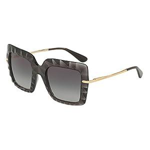 Dolce & Gabbana Women's DG6111 Transparent Grey/Grey Gradient Sunglasses