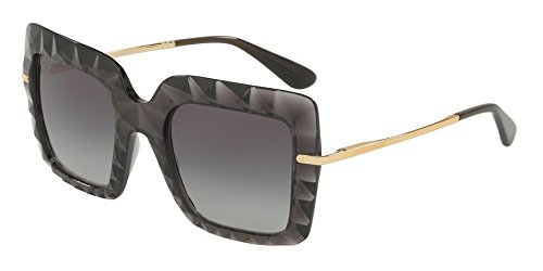 Dolce & Gabbana Women's DG6111 Transparent Grey/Grey Gradient Sunglasses by Dolce & Gabbana