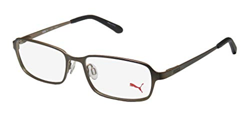Puma 15412 Mens/Womens Spring Hinges Exclusive Popular Design Classic Optimal TIGHT-FIT Designed For Active Lifestyles Eyeglasses/Eyewear (52-16-140, Brown) (52 16 140 Brille)