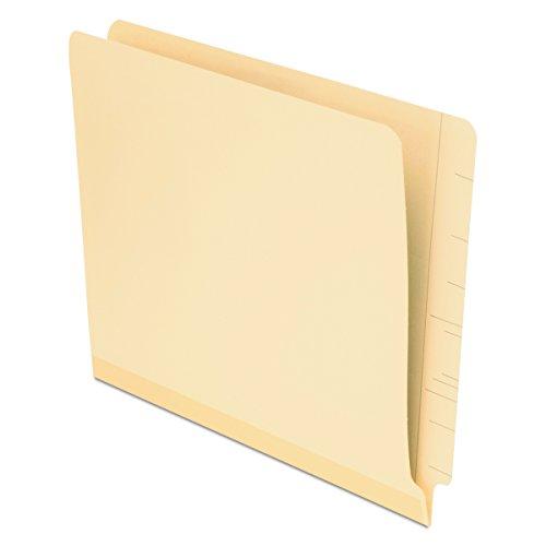 Pendaflex Reinforced Manila End-Tab Folders, Letter Size, Straight Cut, 100/BX - Straight Pendaflex End Cut