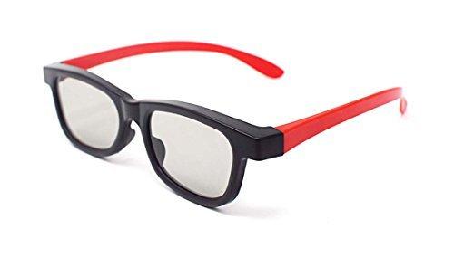 [해외]빨간색과 검은 색 성인 5 쌍 수동형 3D 안경 모든 수동형 TV를위한 보편적 인 세련된 혼합 색상 디자인 RealD Toshi와 같은 영화 및 프로젝터/5 Pairs of Red and Black Adults Passive 3D Glasses universal stylish mixed colour design for all P...