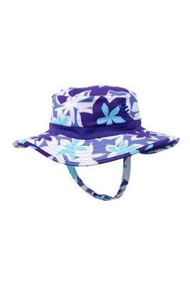 Coolibar UPF 50+ Baby Beach Bucket Hat - UV Swimwear (One Size - Tropical Violet