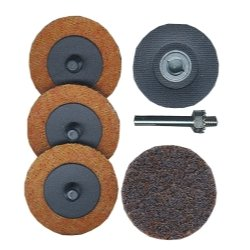 Astro Pneumatic Prep Pads Surface - Astro Pneumatic (AST2SPK) 2in. Roloc Holder and 4 Pads Surface Prep Kit