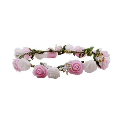Flower hair band buy flower hair band online at best prices in sanjog white pink flower gracious tiaracrown head wrap for women girls mightylinksfo