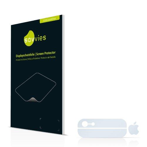 Savvies SC50 Pellicola Protettiva Schermo per Apple iPhone 5 Posteriore (superfici di vetro + logo)