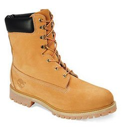 Timberland Mens Icon 8'' Premium Boot Wheat Nubuck All Leather 11.5W