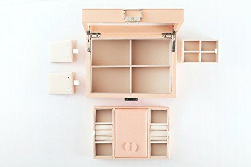 Vlando Wooden Jewelry Box, Jewelry Organizer and Storage- Grey by Vlando (Image #7)