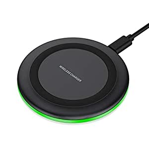 7.5W wireless charger for iPhone X / 8/8 Plus, 10W fast wireless charging for Samsung Galaxy S9 S8 plus / 8 note (without AC adapter)
