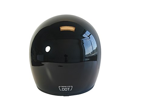 CRG Sports ATV Motocross Motorcycle Scooter Full-Face Fiberglass Helmet DOT Certified ATV-6 Glossy Black Size Large by CRG Sports (Image #4)