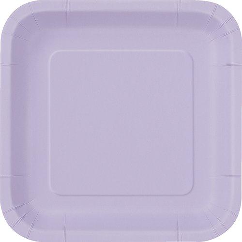 - Square Lavender Paper Plates, 14ct