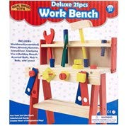 (Real Wood Toys Deluxe 21pcs Work Bench)