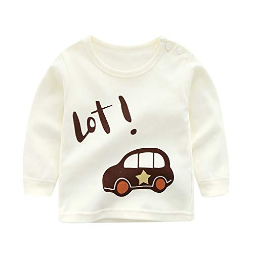 Toddler Baby Tops Cotton Cartoon Lovely Underwear Long Sleeve Autumn Unisex O-Neck T Shirt -