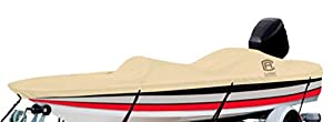 "Classic Accessories DryGuard Heavy-Duty Waterproof Boat Cover For Bass Boats 16' - 18.5' L Up to 98"" W"