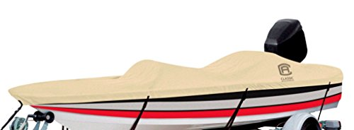 Classic Accessories DryGuard Heavy-Duty Waterproof Boat Cover For Bass Boats 16' - 18.5' L Up to 98