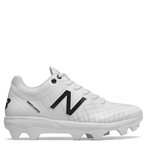 New Balance Men's 4040v5 Molded Baseball Shoe, All White, 11 D US