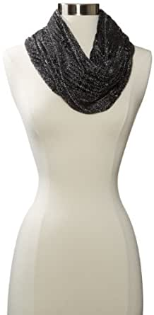Collection XIIX Women's Lace Hole Oversized Loop Scarf, Eternal Night, One Size