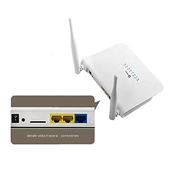 Router 4G LTE WiFi Ranura tarjeta SIM Wonect LT15 Puertos ...