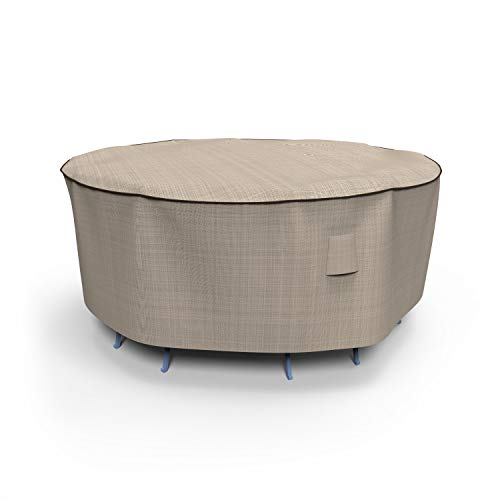 - EmpirePatio Tan Tweed Round Patio Table and Chairs Combo Cover, Small