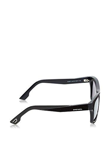 Diesel Denim Temple Wayfarer Sunglasses in Black DL0071 01A 55 01C: Shiny Black