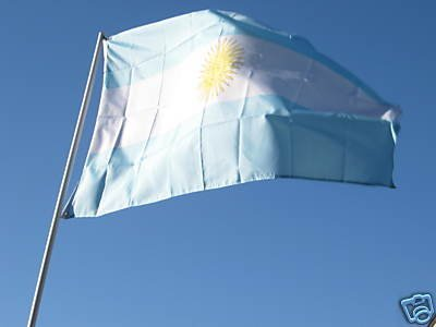 Flags Unlimited Argentina NATIONAL Flag 3x5 NEW 3 x 5 Footba